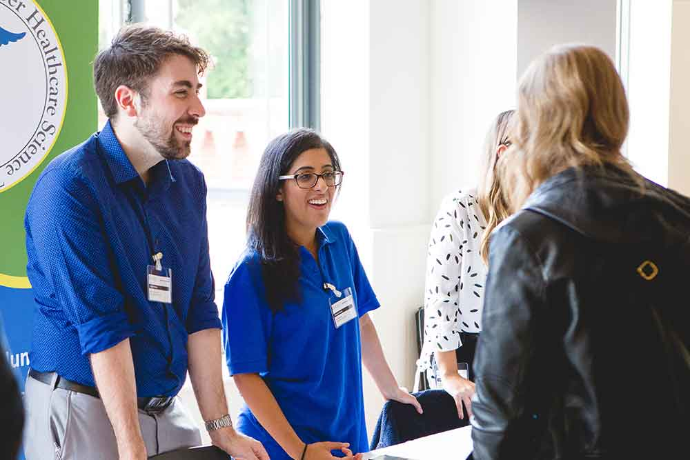 Feature image for STP trainees talk healthcare science at graduate fair