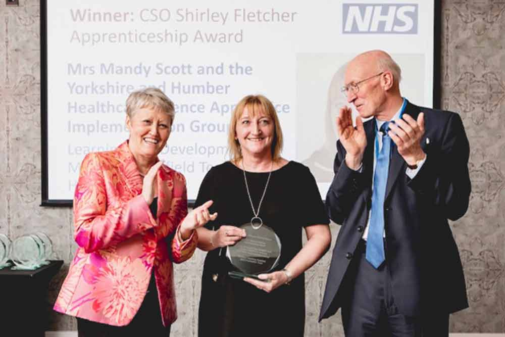 Feature image for Yorkshire and Humber Healthcare Science Apprentice Implementation Group receives Chief Scientific Office Apprenticeship Award