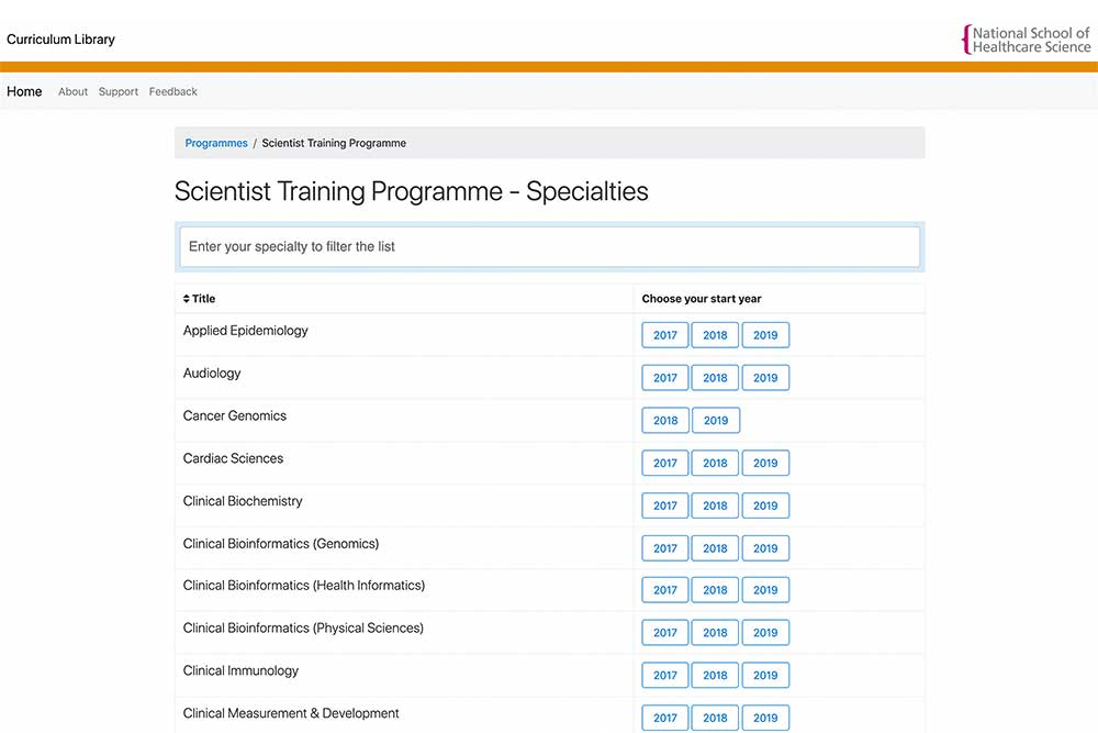 Feature image for Curriculum Library now includes Medical Physics & Clinical Engineering specialties