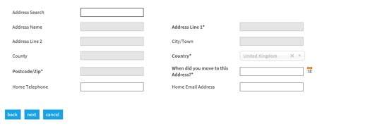 Selenity add address details