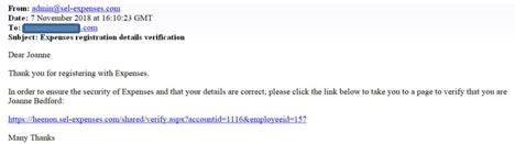 Selenity verification email